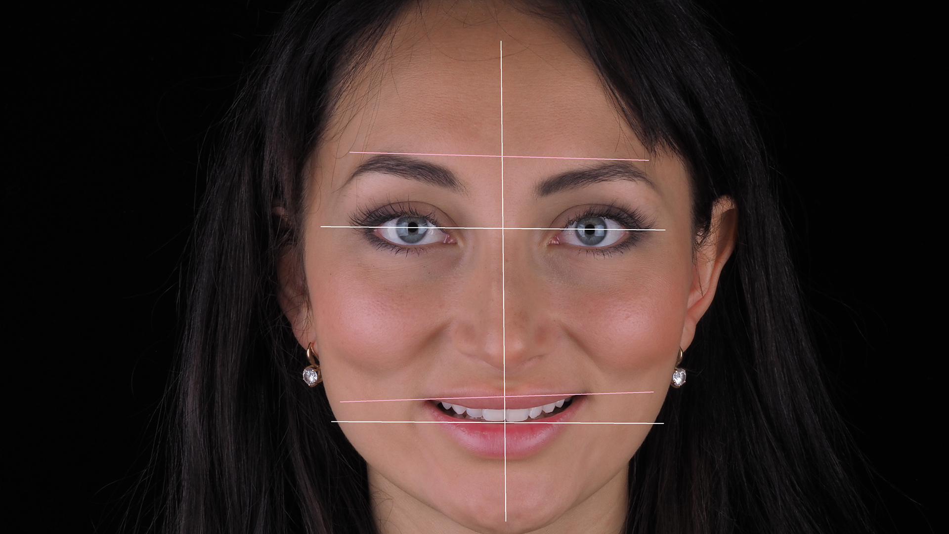 Основные геометрические линии лица